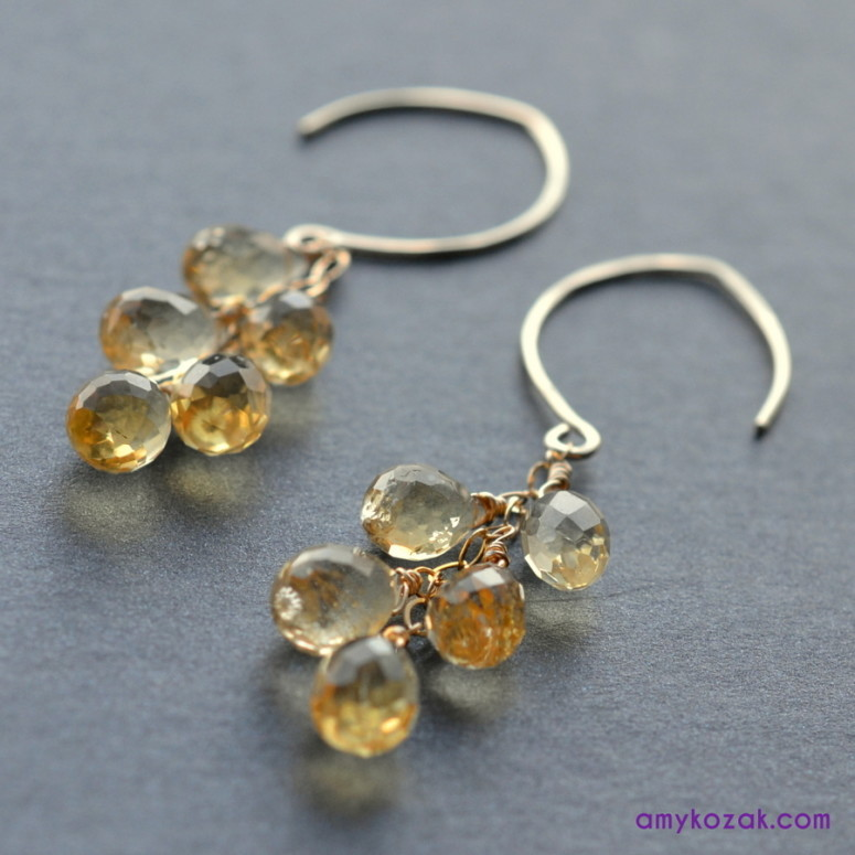 citrine gem drops